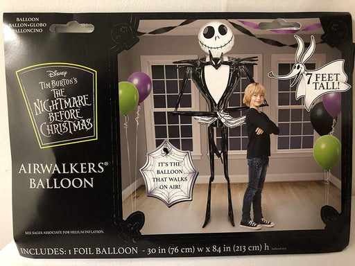 "Gaint Jack Skellington 3D Airwalker 80"" Jumbo Foil Balloon Party Supplies 7 Feet"