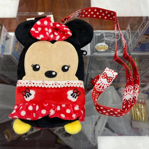Disney Minnie Mouse Deluxe Lanyard Character ID Badge Holder Coin Purse Pouch Wallet
