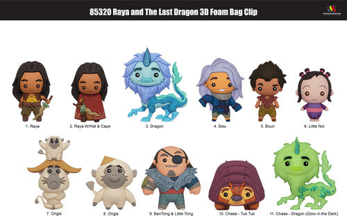 Raya and the Last Dragon 3D Foam Collectible Figural Bag Clip Mystery Bag