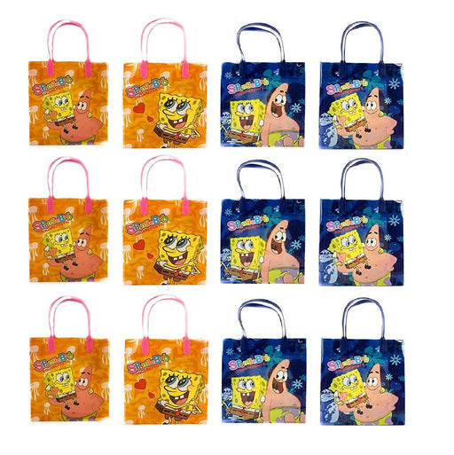 Perfect for loot bags /& party favours Lot of 4 Spongebob Squarepants Keyrings