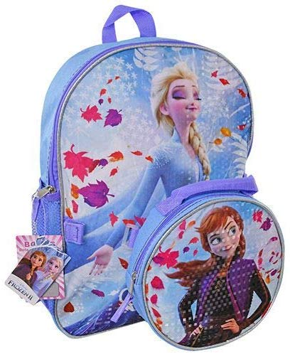 "Frozen 2: 16"" Backpack - Detachable Insulated Shaped Lunch Bag"