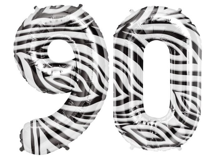 "Giant 34"" Mylar Zebra Foil Number Balloons **HELIUM/AIR ARE NOT INCLUDED**"