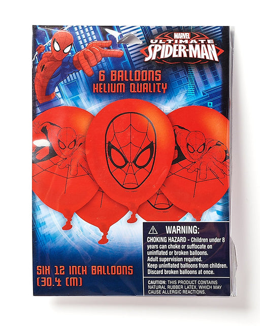 Spider-man Latex Balloons (6ct) Birthday Party Supplies 12""