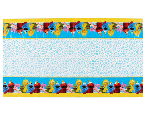 Sesame Street Elmo & friends - Birthday Table Cover Measures 54 in x 96 in, 36 sq ft