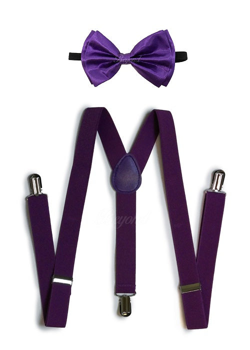 Halloween Novelty Red Bloody Bow Tie And Suspender Matching Set Tuxedo