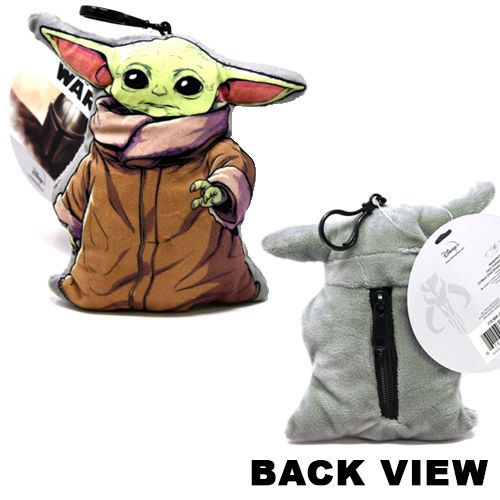 "Star Wars  The Mandalorian ""The Child Baby Yoda 3D Shaped Plush Zipper Pull 4"""