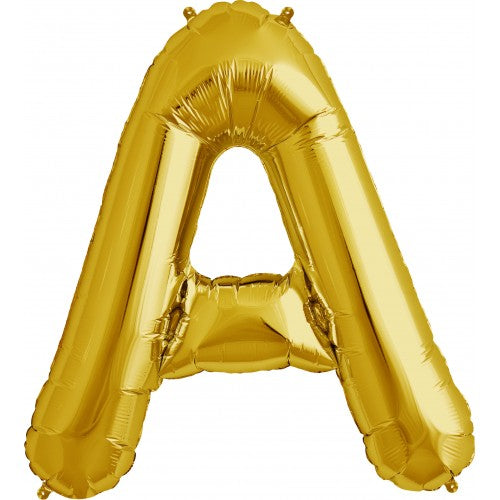 "Giant 34"" Mylar Gold Foil Letter Balloons **HELIUM/AIR ARE NOT INCLUDED**"