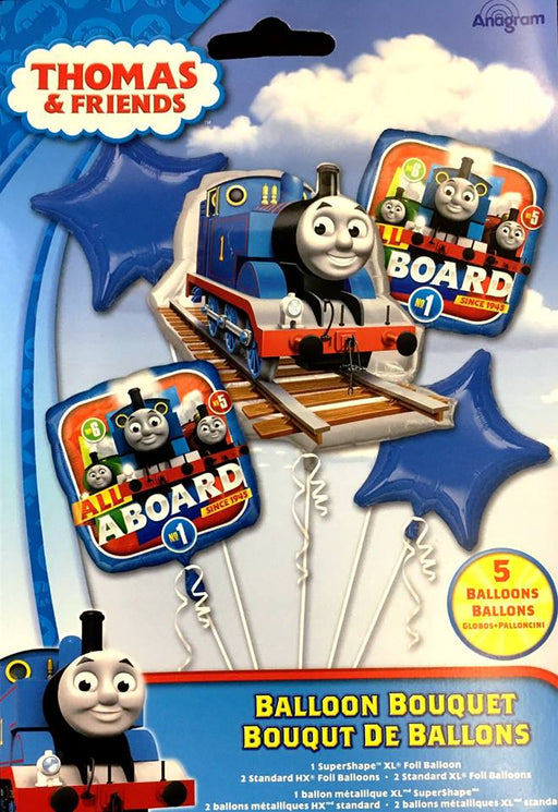 Thomas the Tank Engine Balloon Bouquet 5pc HELIUM NOT INCLUDED