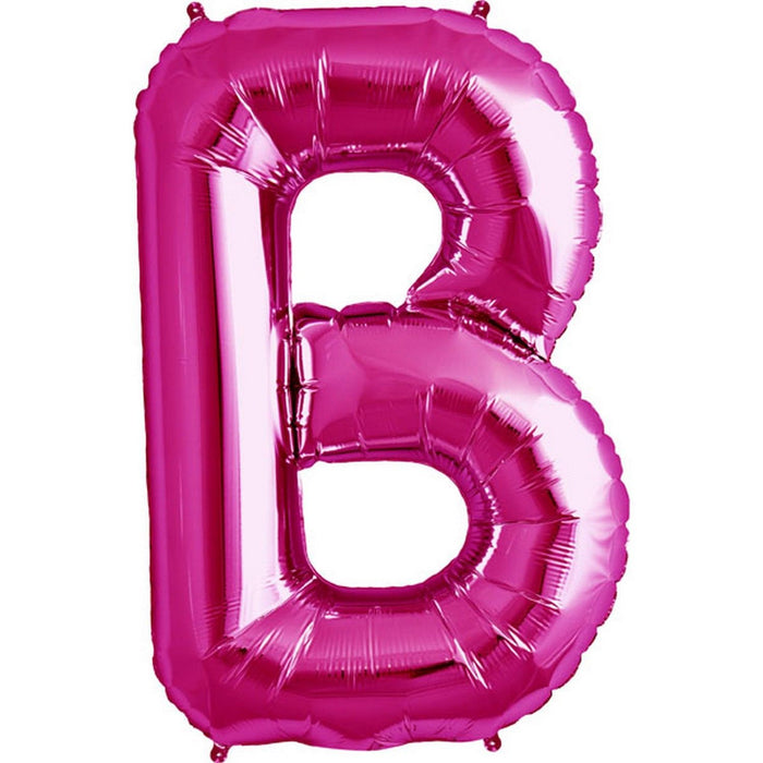 "Giant 34"" Mylar Hot Pink Foil Letter Balloons **HELIUM/AIR ARE NOT INCLUDED**"