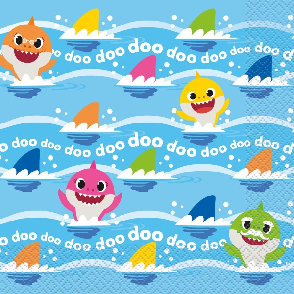 Baby Shark Lunch Napkins 16ct