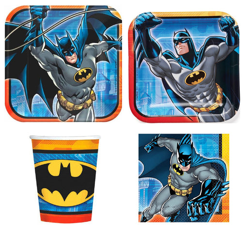 Marvel Batman Birthday Party Express Pack for 8 Guests (Cups Napkins & Plates)