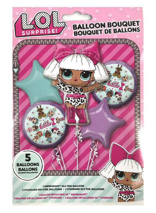 L.O.L. LOL SURPRISE! Balloon Bouquet 5pc