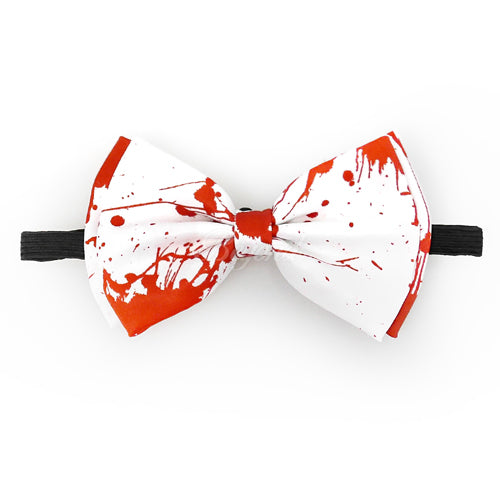 Halloween Novelty Bloody Bow Tie And Suspender Matching Set Tuxedo