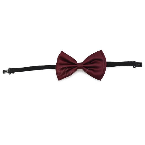 Burgundy Matching Set Suspender and Bow Tie