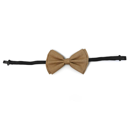 Adult Bow Ties - Brown Canvas Bow Tie