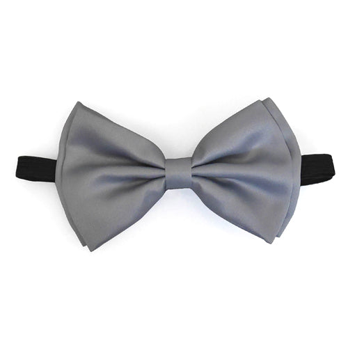 Light Gray Matching Set Suspender and Bow Tie