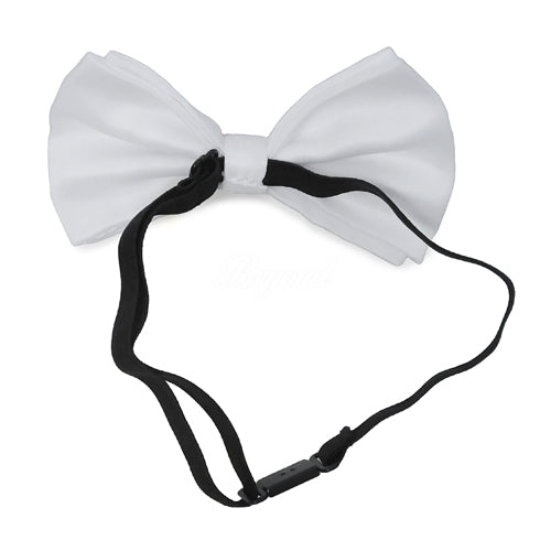 White Matching Set Suspender and Bow Tie