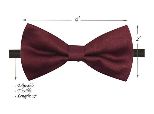 Kids Bow Ties - Toddler Burgundy Bow Tie