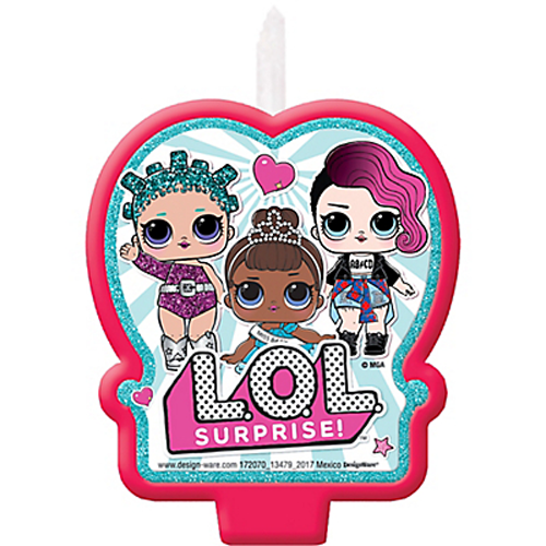 L.O.L LOL SURPRISE! Birthday Cake 1x Candle ~ Birthday Party Supplies Cake topper