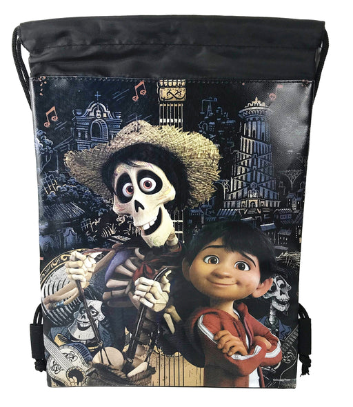 Disney Coco Miguel Drawstring Backpack Gym Tote Bags