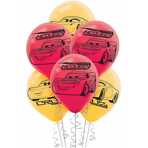"Cars 3 Latex Balloons (6ct) Birthday Party Supplies 12"" HELIUM NOT INCLUDED"