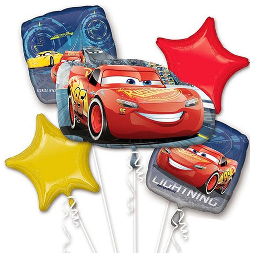 Pixar Cars 3 Balloon Bouquet 5pc HELIUM NOT INCLUDED