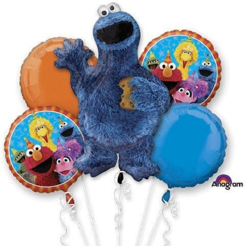 Cookie Monster Balloon Bouquet 5pc