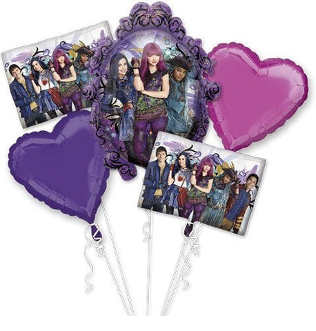 Descendants 2 Balloon Bouquet 5pc