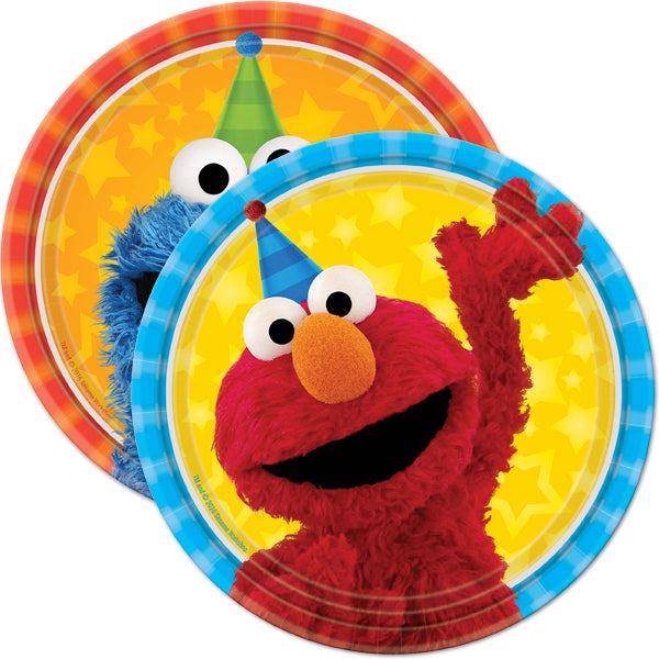 Sesame Street Elmo Birthday Party Express Pack for 8 Guest (Cup Napkin & Plates)