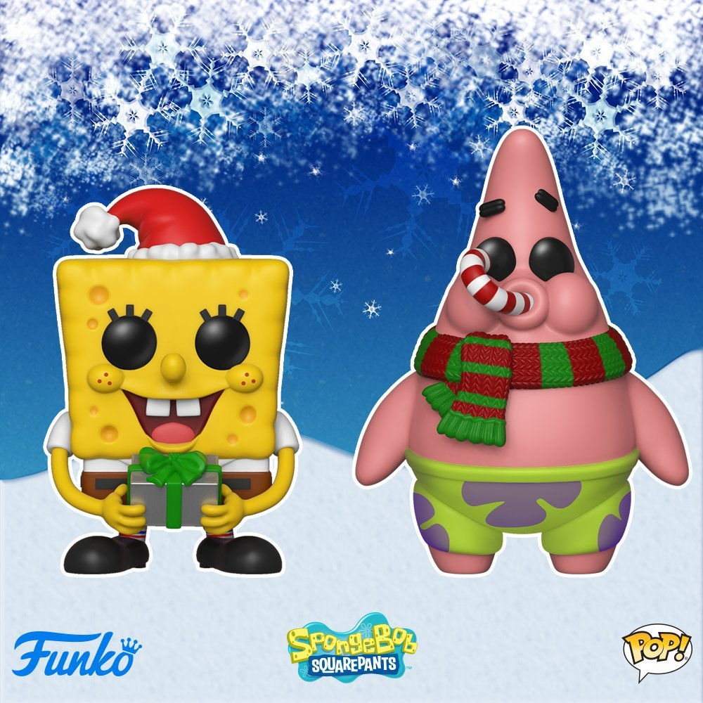 Pop Animation  - Spongebob Squarepants + Patrick Star Set of 2 Vinyl