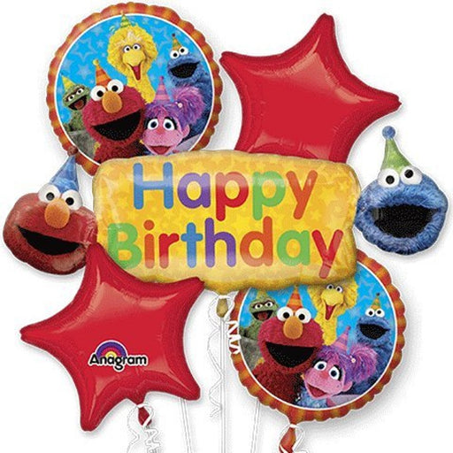 Sesame Street Elmo Happy Birthday Balloon Bouquet 5pcs Set