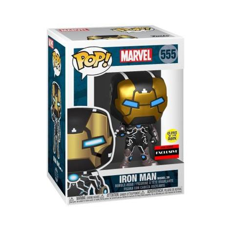 [PRE-ORDER] Funko Pop! MARVEL 80TH - Iron Man MODEL 39 VINYL FIGURE #555 (GLOW IN THE DARK)  AAA ANIME EXCLUSIVE