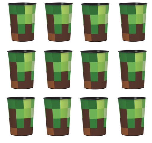 TNT Minecraft - Lot of 12 16oz Party Plastic Cup ~Party Favor Supplies