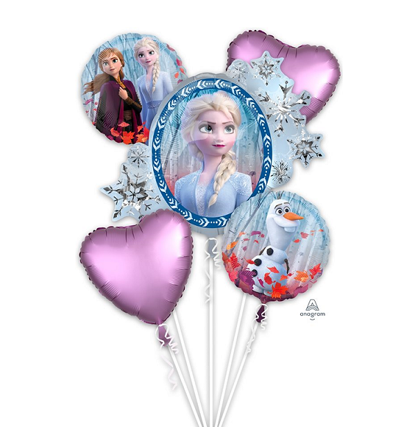 Frozen 2 Balloon Bouquet 5pc - Giant HELIUM NOT INCLUDED
