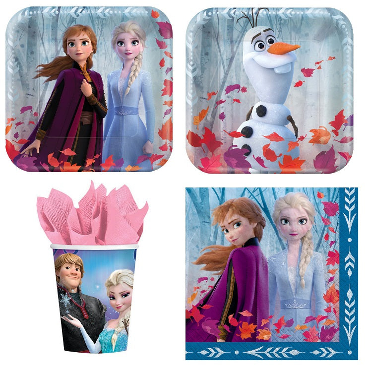 Frozen 2 Express Pack for 8 Guests (Cups Napkins & Plates)