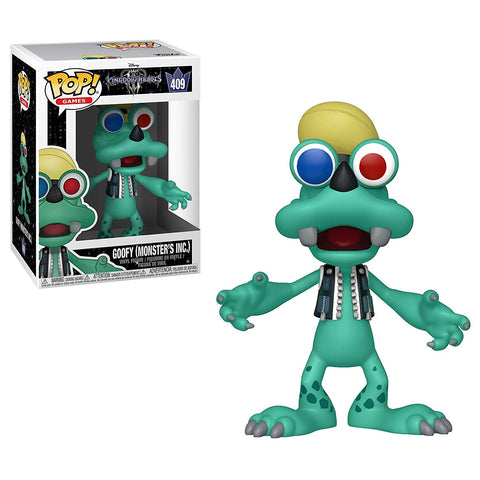 "Funko Pop Disney Kingdom Hearts Wave 3 - Goofy (Monster""s Inc) #410 Vinyl Figure with .5mm Case"