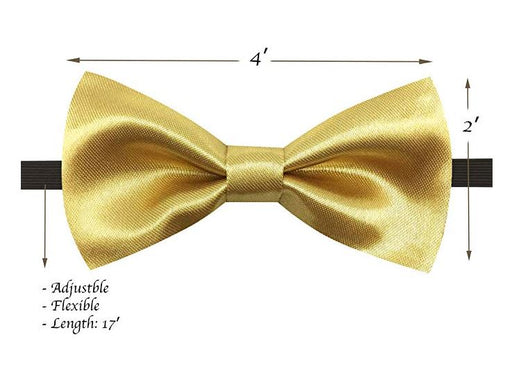Kids Bow Ties - Toddler Gold Champagne Bow Tie