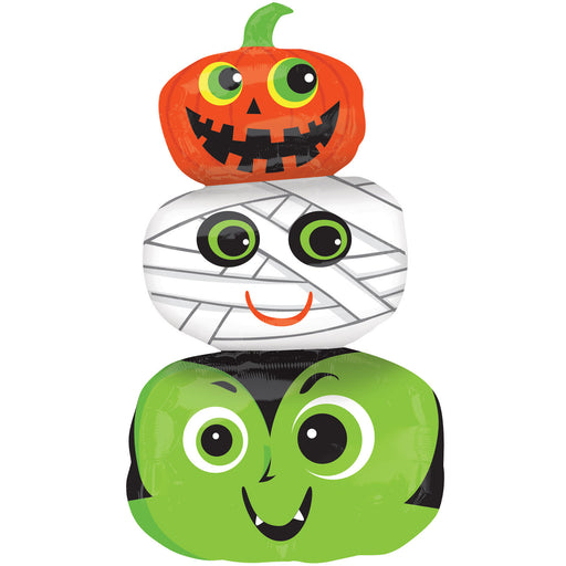 Anagram Pumpkins Mummy Halloween Head Foil Balloon 19 in x 36 in SuperShape Balloon