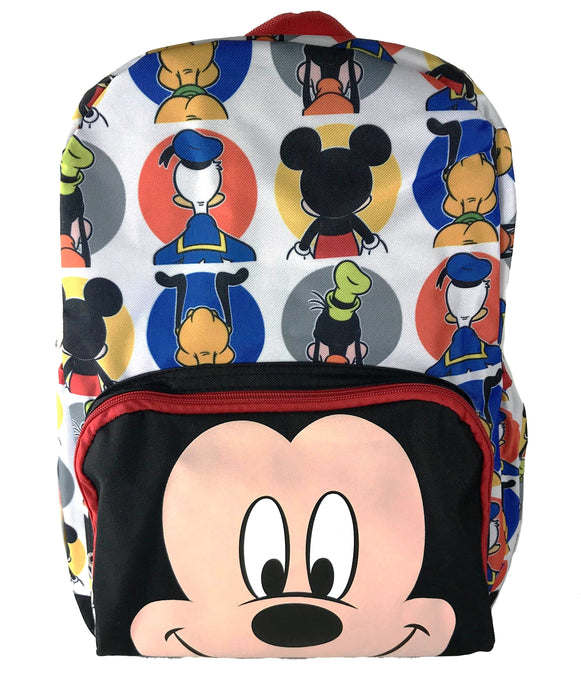 "Mickey Mouse Faces Backpack 16"" School Backpack"