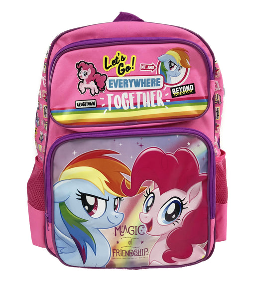 "My Little Pony 16"" Pink Backpack - Pinkie Pie & Rainbow Dash"