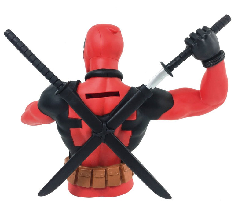 "Marvel Deadpool with Knifes 7"" Coin/Bust Bank Christmas Birthday Gift"
