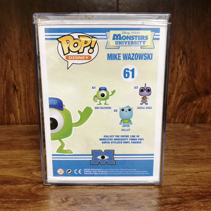 "Pop Disney  Exclusive - Monsters University - Mike Wazowski #61 Vinyl Figure ""Vaulted"""