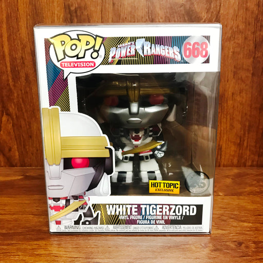 Pop Television Hot Topic Exclusive : White Tigerzord #668 Vinyl Figure