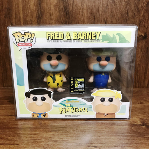 Pop SDCC 2014 Exclusive : The FlintStones : Fred & Barney Vinyl (Yellow & Blue)