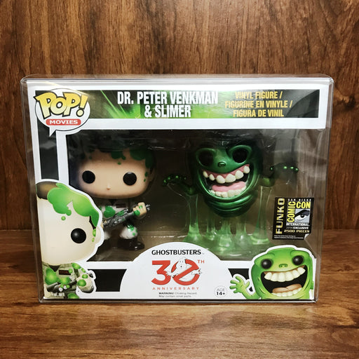 Pop SDCC 2014 Exclusive : Ghostbusters - Dr. Peter Venkman & Slimer 2pc Set
