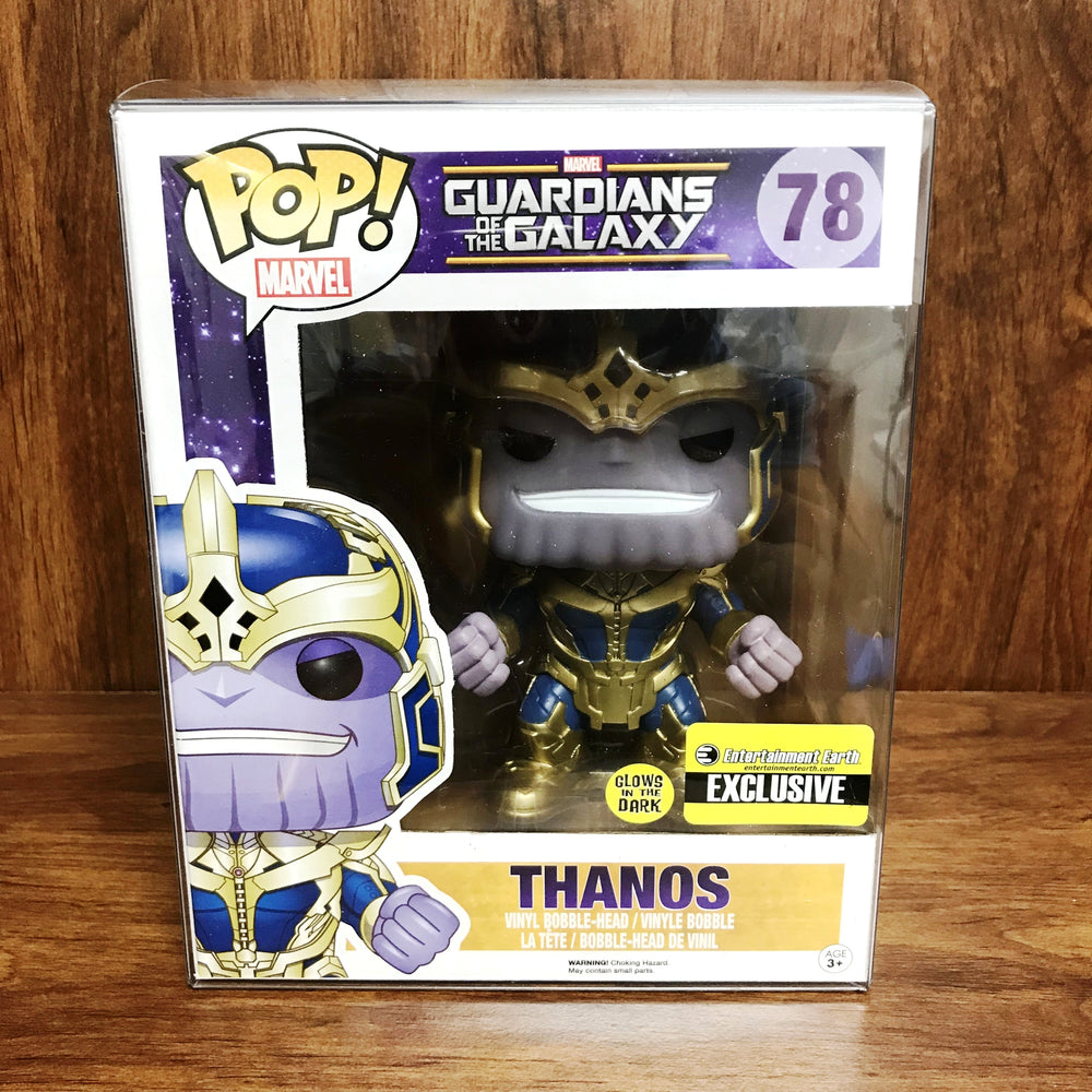 "Pop Entertainment Earth Exclusive : Glows in the Dark THANOS 6"" Vinyl Figure"