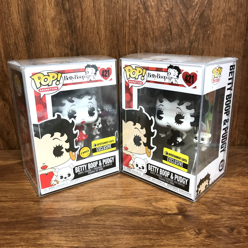 Pop Entertainment Earth Exclusive : Set of 2 Betty Boop & Pudgy + CHASE #421 Vinyl