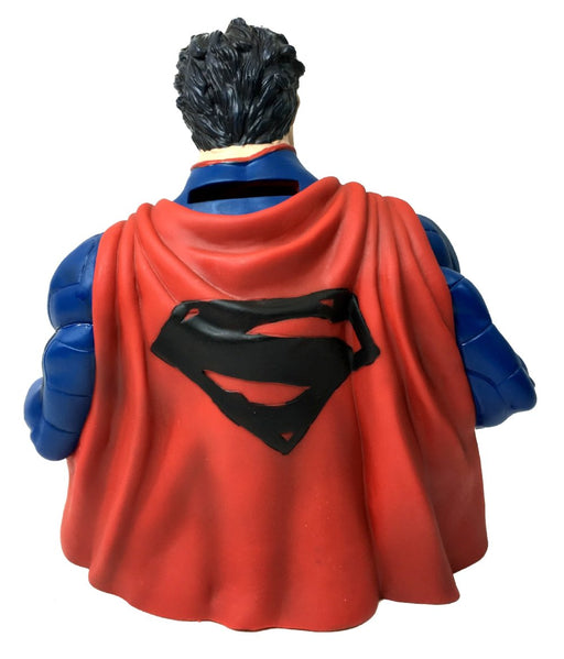 "DC Comics Superman 7"" Coin/Bust Bank Christmas Birthday Gift"