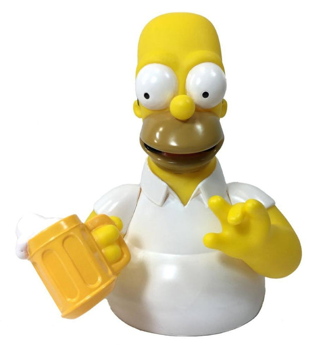 "The Simpsons: Homer Simpsons with Beer 7"" Coin/Bust Bank Christmas Birthday Gift"