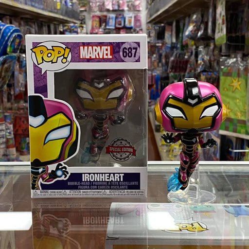 Funko Pop! MARVEL IRONHEART Bobble-head Figure #687 Special Edition Sticker!